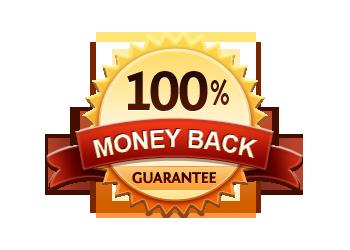 Money Back Guarantee 100% - Burst Badge Orange