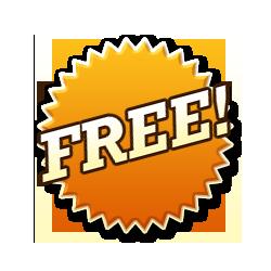Free - Burst Badge Orange