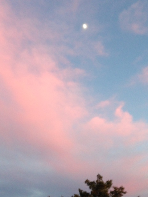 Half moon pink cloud