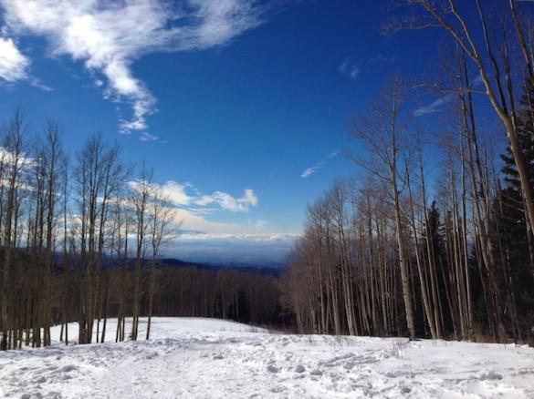Aspen Vista high trail winter