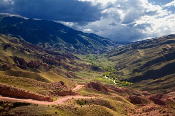 Oasis in Mountain Desert